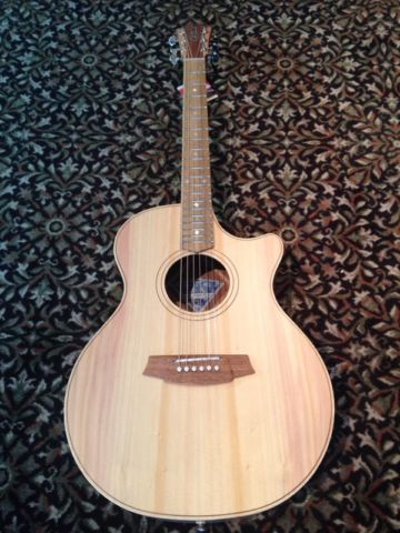NEW Cole Clark AN2EC-BB acoustic-electric with hard case $2,599.00